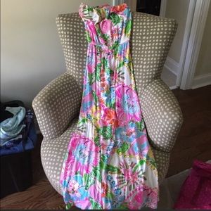 Lilly Pulitzer for Target Strapless Dress Size M